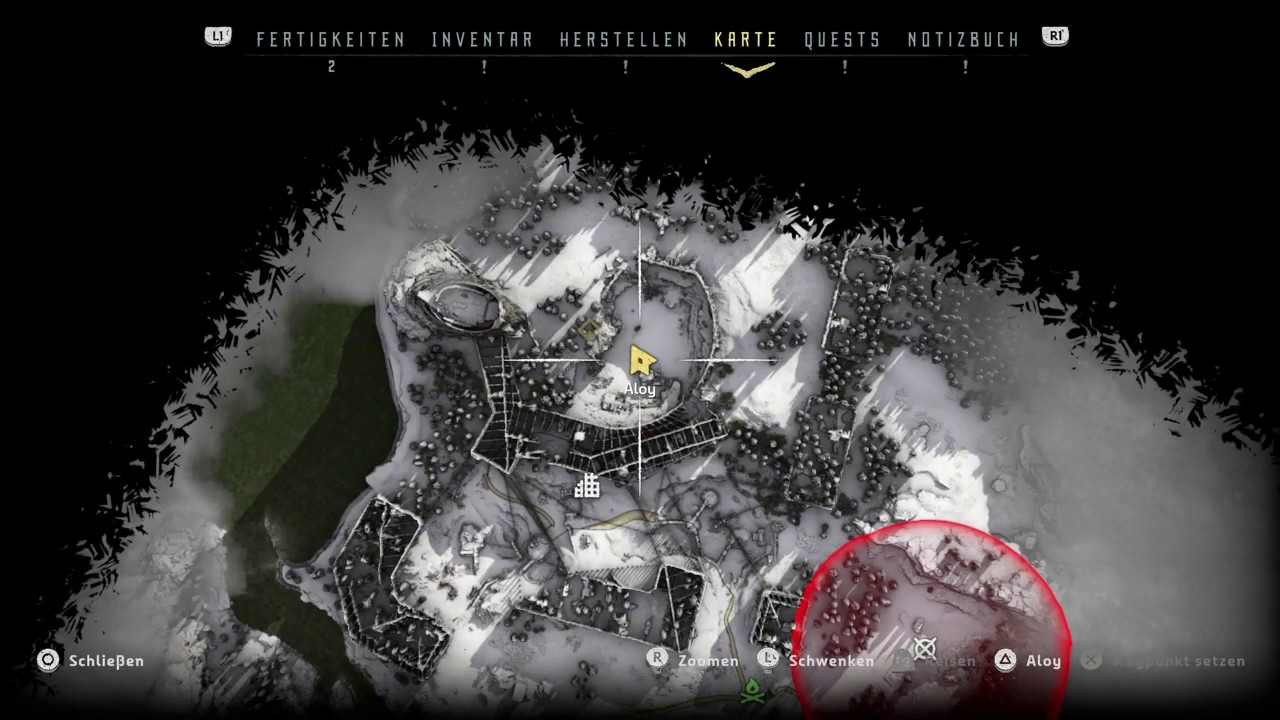 Horizon Zero Dawn Karte Energiezellen.Horizon Zero Dawn Zugang Zu Schopfers Ende