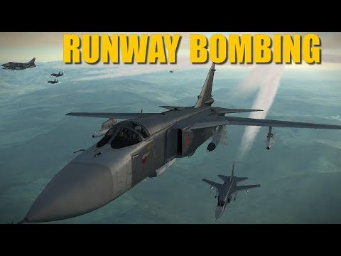 Russia Turkey Campaign: Reapers Escort Su-24s & Tu-22s To Carpet Bomb Airfields   DCS