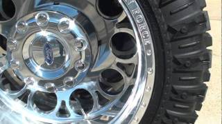 2010 FORD F450 LIFTED CREW CAB 4X4 DIESEL TRUCK FOR SALE SEE WWW SUNSETMILAN COM