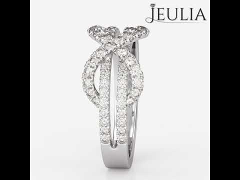 Jeulia Twist Infinity Shape Created White Sapphire Promise Ring- Jeulia.com