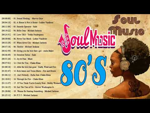 The 100 Greatest Soul Songs of the 1980s  Best Soul Songs of The 80s  Soul Music 80s Playlist