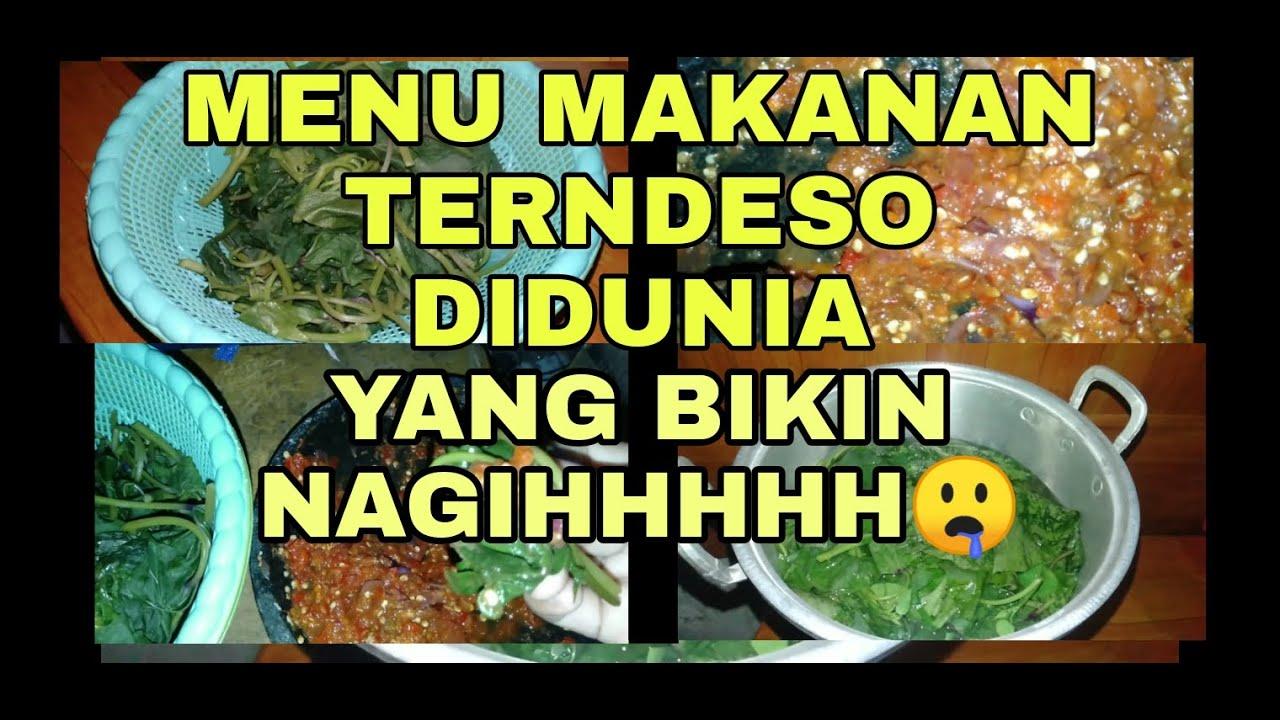 sambel terasi daun singkong nasi  piring ludessstempe tahu bacem jowo sambel Resepi Ikan Sambal Bali Enak dan Mudah
