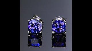 tanzanite earrings 4tz 1945