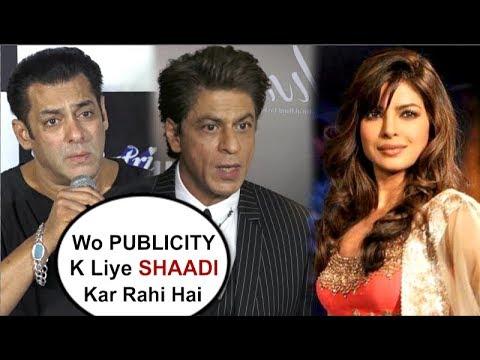 Salman Khan & Shahrukhs SHOCKING Reaction On Priyanka Chopras Marriage To Nick Jonas