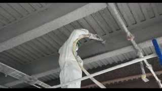Incredible In Your Face HD Video of Fire Proofing with Grace Monokote Fireproofing