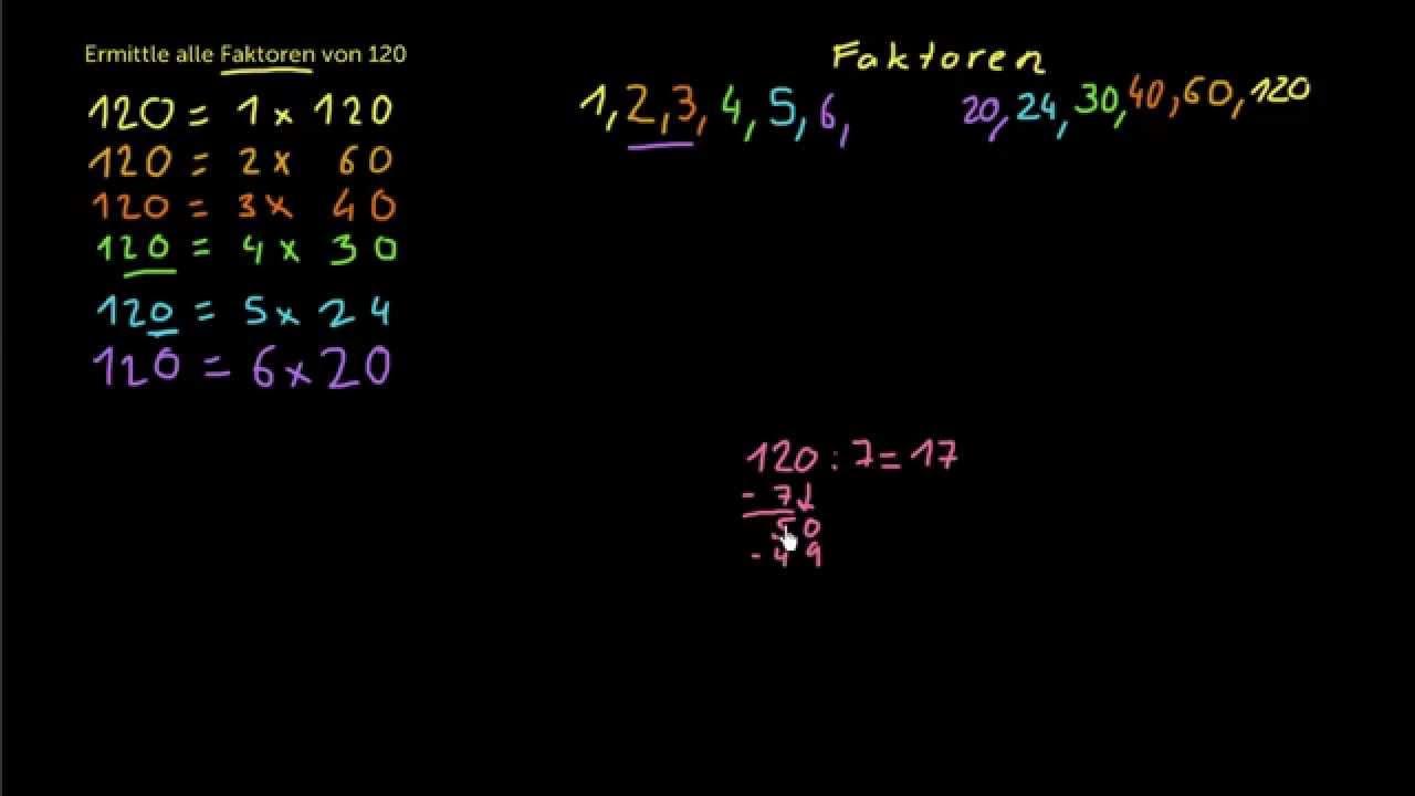 Teiler einer Zahl finden (Video) | Khan Academy