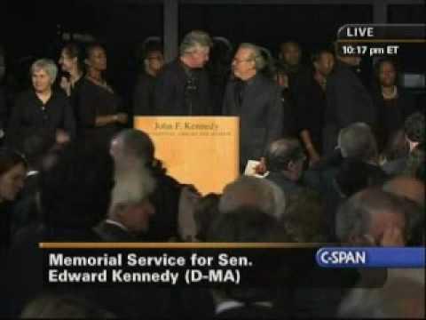 Edward Kennedy Memorial Service  When Irish Eyes Are Smiling