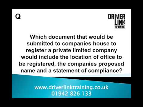 Transport Management CPC: Business and Company Law Revision Tutorial