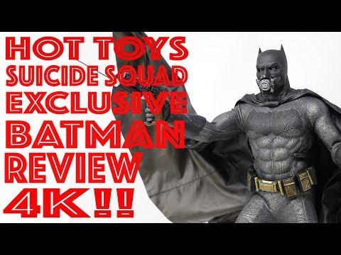 HOT TOYS MMS409 SUICIDE SQUAD EXCLUSIVE BATMAN 1/6 SCALE FIGURE REVIEW 4K
