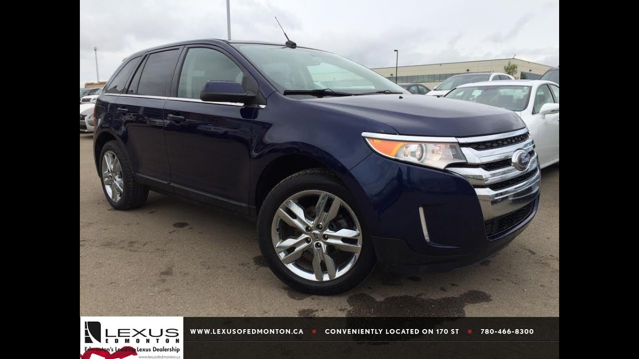 Pre Owned Blue  Ford Edge Limited Awd Walk Around Review Vermillion Alberta