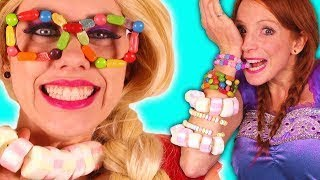 How To Make GIANT Surprise Cupcake Cake With Rainbow Candy | Guide Chef Ava Kids Cooking a