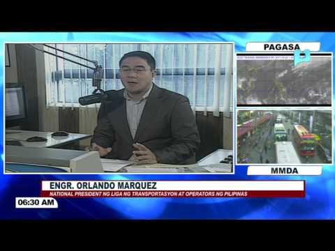 Panayam kay National Pres. ng Liga ng Transportasyon at Operators ng Pilipinas Engr.  Marquez