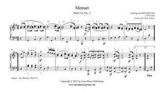 Beethoven : Minuet in G Major, WoO 10, No. 2