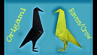 Origami Crow – How To Make Easy Origami Crow/Raven