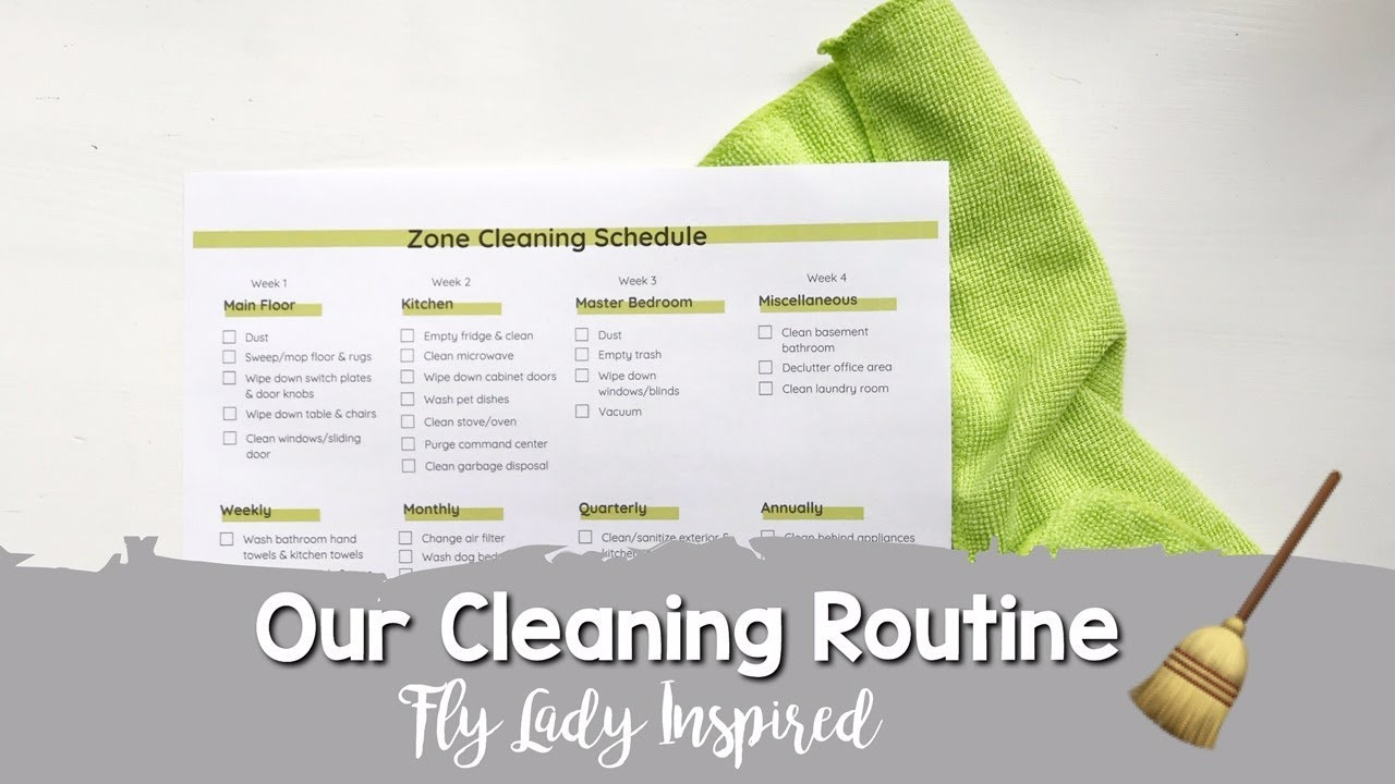 picture regarding Morning Routine Flylady Printable identify Our Cleansing Agenda Fly Woman Motivated!