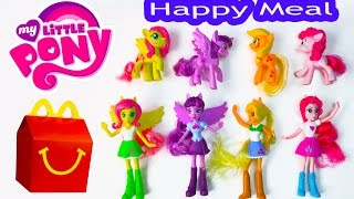 MLP McDonalds Happy Meal Toys 2015 My Little Pony Equestria Girls Toys Video Princess Twilight Dolls