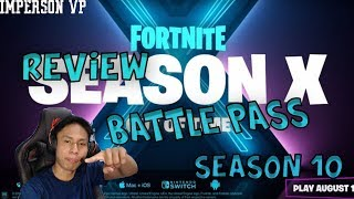 REVIEW BATTLE PASS SEASON 10 - Fortnite Battle Royale Indonesia