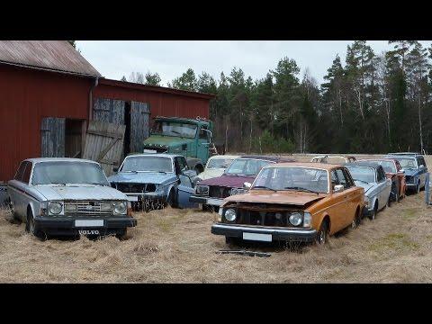 Övergiven gård full av ovanliga Volvo