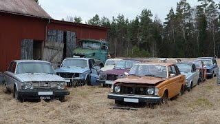 Abandoned farm full of rare Volvos