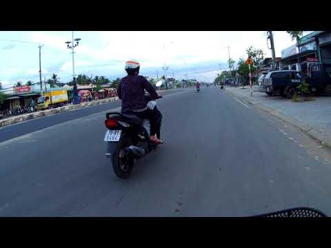 4K | Thành phố Tây Ninh, đường Điện Biên Phủ đi Núi Bà Đen | Tay Ninh Travel 2017