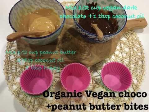 Vegan choco and peanut butter bites