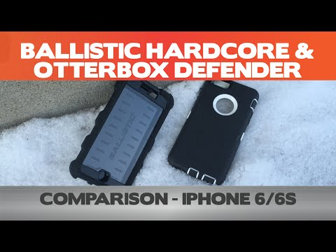 5 differences between the Ballistic Hardcore and Otterbox Defender -  iPhone 6 Case Review