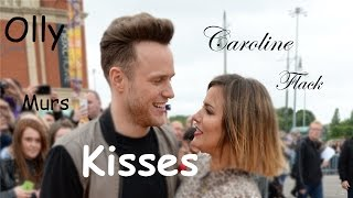 Olly Murs and Caroline Flack Kisses