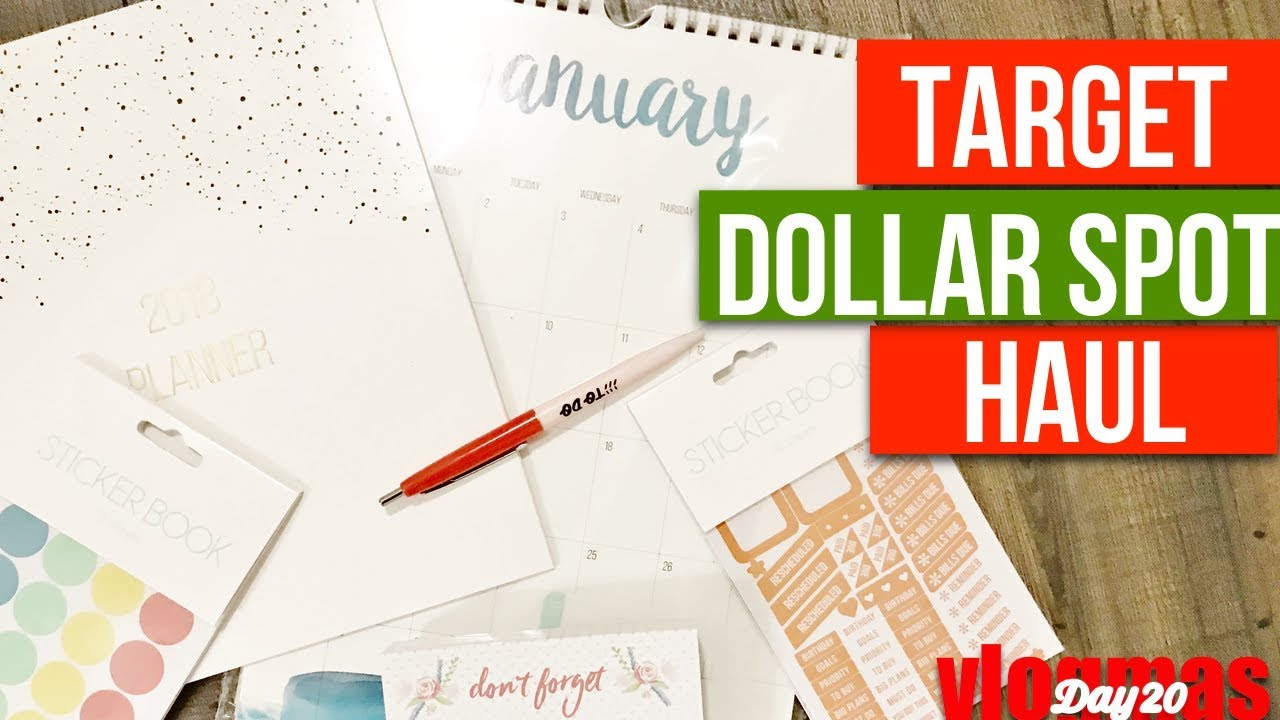 Calendar Planner Target : Target dollar spot haul 2018 target dollar spot planner and