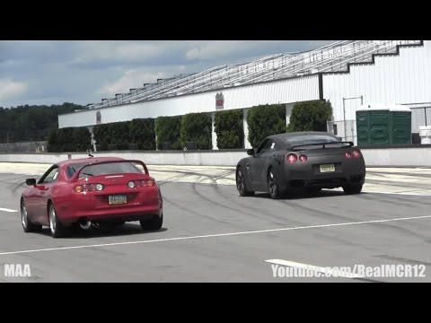 Toyota Supra vs. Nissan GT-R R35 || Camaro ZL1 vs. 700 HP K20 Honda Civic - Roll Racing