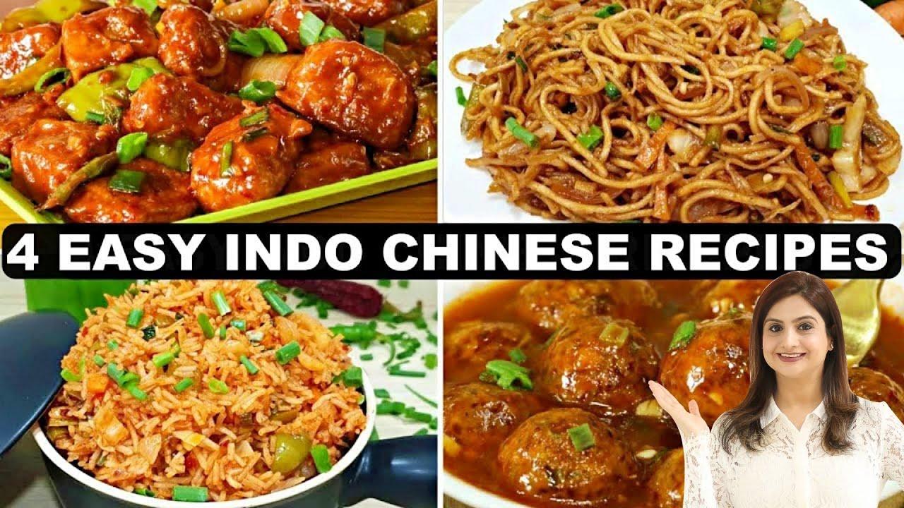 4 Indo Chinese Meal Combo Recipes | 4 आसान और टेस्टी इंडो चाइनीस रेसिपीस जिसे आप बार बार बनाओगे