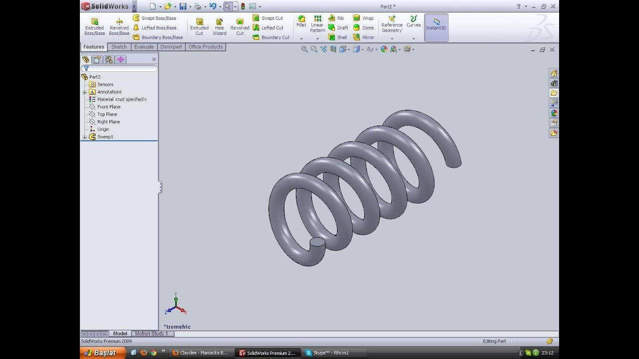 Solidworks Ile 2 Dakikada Yay 231 Izimi Youtube