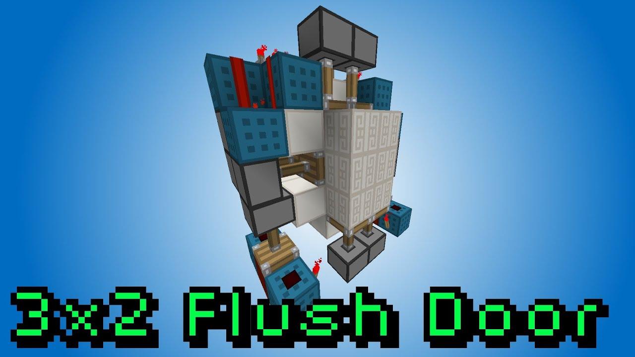& 2x3 Piston Door [Flush] - Minecraft 1.7 Redstone Tutorial - YouTube Pezcame.Com