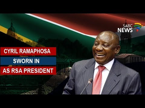 Cyril Ramaphosa sworn in as RSA president