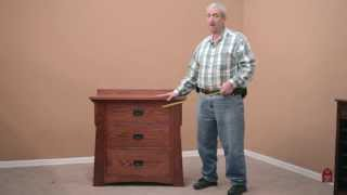 Barn Furniture - Custom Bungalow Chest / Night Stand In Solid Oak