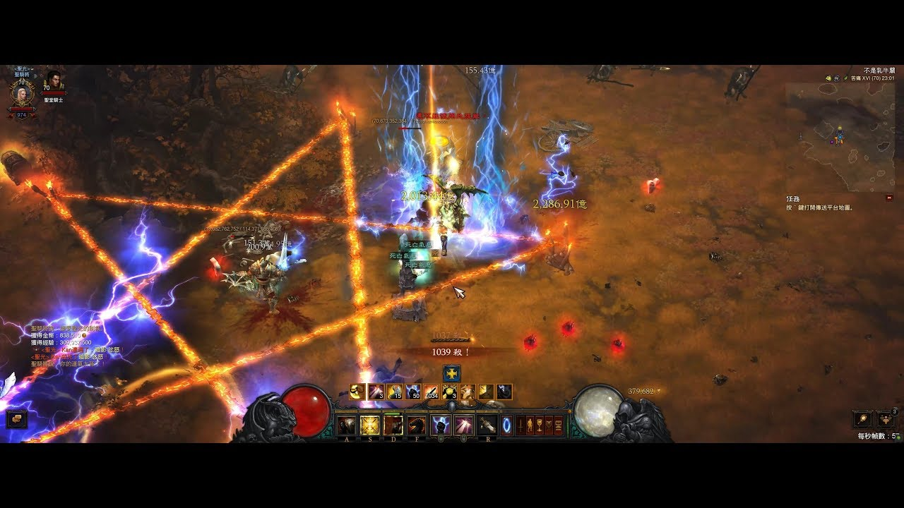 DiabloIII 暗黑破壞神III 2.6.7b S19 聖教軍 1000殺 牛關 - YouTube