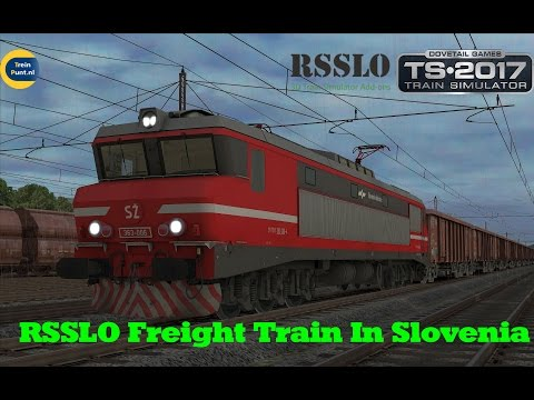 RSSLO Freight Train In Slovenia | SZ 363-006 | Train Simulator 2017