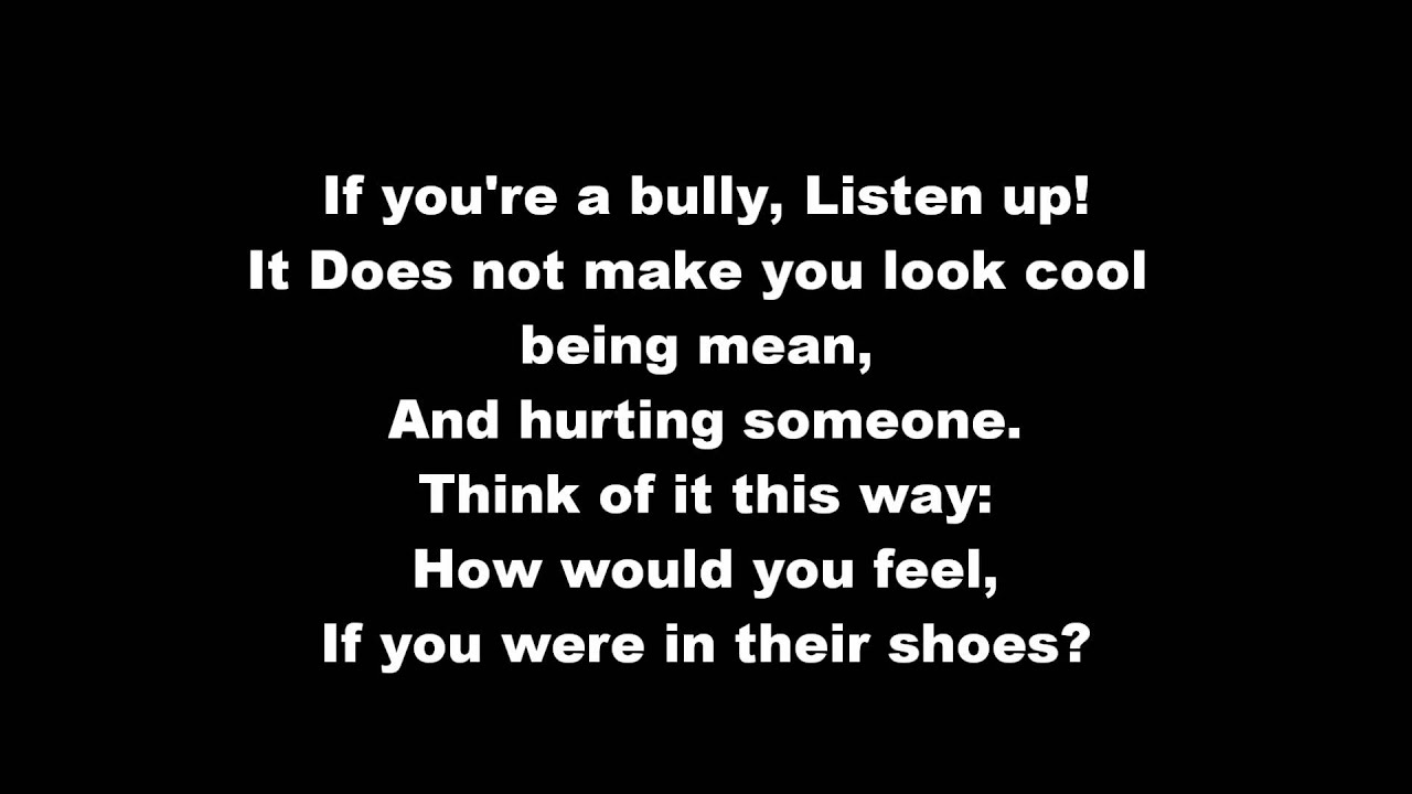 Anti-Bullying Poem. We Need to Take a Stand! We Need to Make a ...