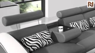 Modern White/grey L Shape Sofa Vgyi816mini From Vig Furniture