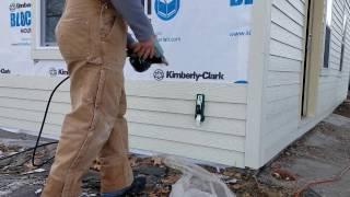 Installing fiber cement siding! DIY project.