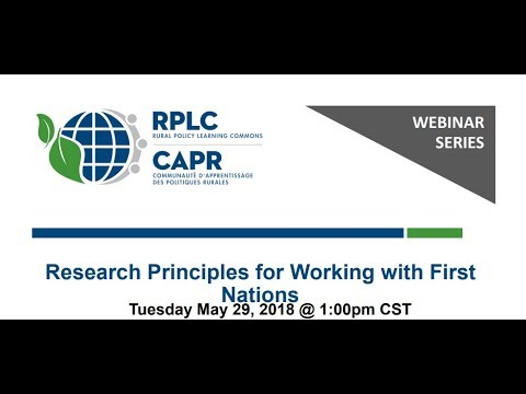 Research Principles For Working With First Nations