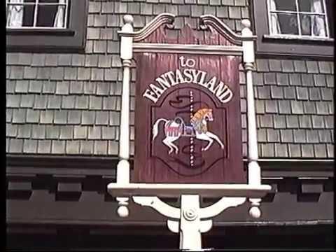 1992 Vintage Footage Magic Kingdom Fantasyland And Tomorrowland Skyway Stations Disney World