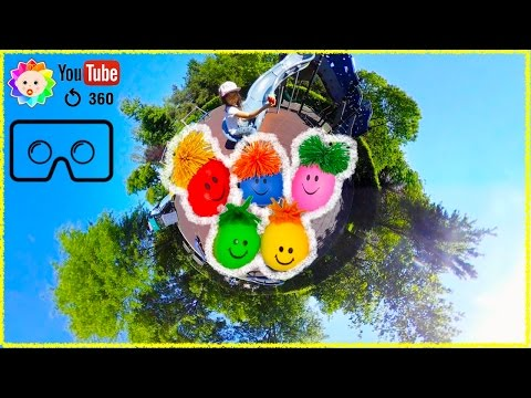 Thumbnail: LEARN COLORS For KIDS With DIY Anti Stress Balls 360 Degrees VIDEO VR BOX GoogleCardboard 4K 2017