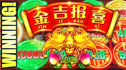 WINNING! RISING BETS ON RISING FORTUNES ⬆️ JIN JI BAO XI Slot Machine (SG)