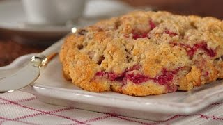 Raspberry Scones Recipe Demonstration - Joyofbaking.com