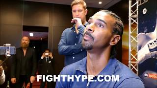 DAVID HAYE ADMITS CAREER