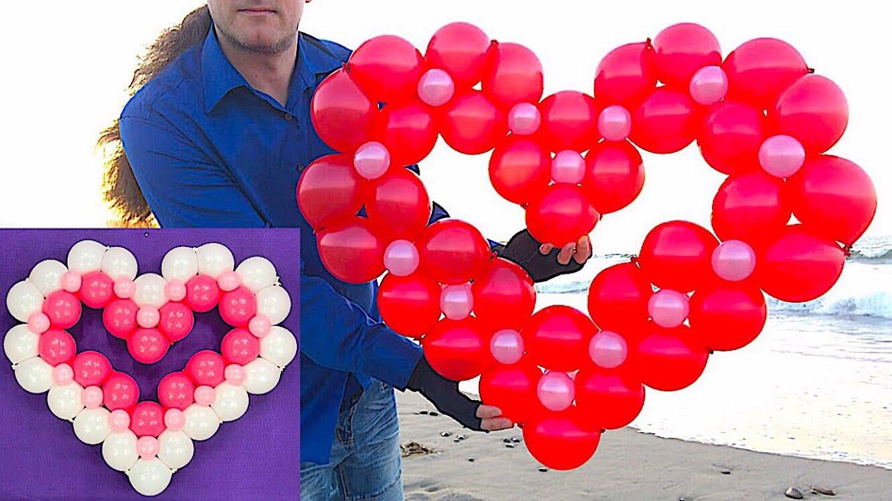 Heart Shape Balloon Decoration! Tutorial   How To