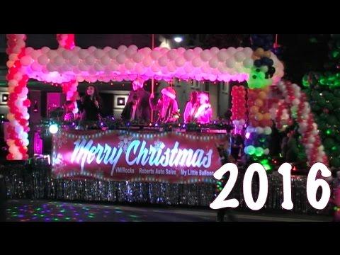 Christmas Parade 2016 - Celebration Of Lights Parade In Modesto, California