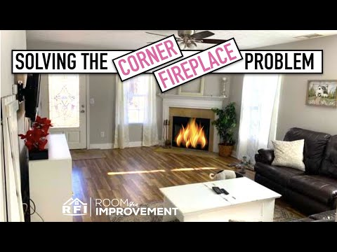 Corner Fireplace Living Room Redesign Design Time Youtube
