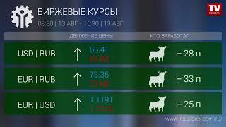 InstaForex tv news: Кто заработал на Форекс 13.08.2019 15:30