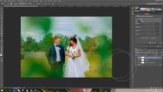 обработка свадебного фото.цветокоррекция,ретушь фото часть3